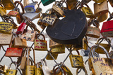 Love Locks on the Pont Des Arts in Paris, France, Europe Photographic Print by Julian Elliott