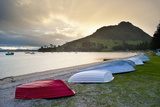Boats at Mount Maunganui at Sunset, Tauranga, North Island, New Zealand, Pacific Photographic Print by Matthew Williams-Ellis