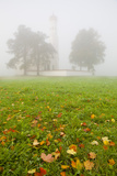 Saint Koloman Church in Fog, Near Fussen, Bavaria, Germany, Europe Photographic Print by Miles Ertman