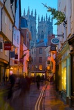 Colliergate and York Minster at Christmas, York, Yorkshire, England, United Kingdom, Europe Photographic Print by Frank Fell