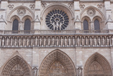 The Facade of Notre Dame De Paris Cathedral, Paris, France, Europe Photographic Print by Julian Elliott