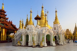 Temples and Shrines at Shwedagon Paya (Pagoda), Yangon (Rangoon), Myanmar (Burma), Asia Photographic Print by Lee Frost