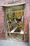 Carpenter in His Workshop in the Souk of Marrakech, Morocco, North Africa, Africa Fotografisk trykk av Matthew Williams-Ellis