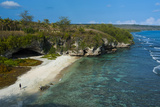 Ladder Beach, Saipan, Northern Marianas, Central Pacific, Pacific Photographic Print by Michael Runkel