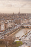 The City of Paris from Notre Dame Cathedral, Paris, France, Europe Photographic Print by Julian Elliott
