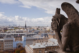 A Gargoyle Stares Out from Notre Dame De Paris Cathedral, Paris, France, Europe Photographic Print by Julian Elliott