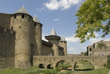 Outer Walls of the Old City, Carcassonne, UNESCO World Heritage Site, Languedoc, France, Europe Photographic Print by Tony Waltham