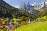 View of Ramsau in Autumn, Near Berchtesgaden, Bavaria, Germany, Europe Photographic Print by Miles Ertman