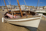 Boat on Beach, St. Ives, Cornwall, England, United Kingdom, Europe Photographic Print by Miles Ertman