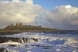 Surf on Rocks, Dunstanburgh Castle, Northumberland, England, United Kingdom, Europe Photographic Print by Peter Barritt