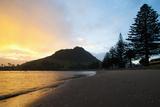 Mount Maunganui Sunset, Tauranga, North Island, New Zealand, Pacific Photographic Print by Matthew Williams-Ellis