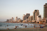 Beach, Tel Aviv, Israel, Middle East Photographic Print by Yadid Levy