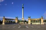 Millennium Monument, Heroes Square, Budapest, Hungary, Europe Photographic Print by Neil Farrin