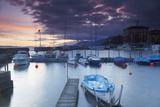 Harbour at Sunset, Neuchatel, Switzerland, Europe Photographic Print by Ian Trower