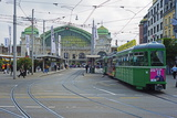 City Center Trams, Basel, Switzerland, Europe Photographic Print by Christian Kober