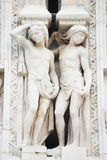 Gothic Sculptures, Duomo (Milan Cathedral), Milan, Lombardy, Italy, Europe Photographic Print by Christian Kober