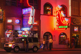 Neon Signs on Broadway Street, Nashville, Tennessee, United States of America, North America Photographic Print by Richard Cummins