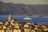 View over Korcula Town, Korcula, Dalmatian Coast, Croatia, Europe, Photographic Print by Neil Farrin