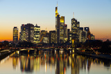 Frankfurt Skyline at Dusk, Frankfurt, Hesse, Germany, Europe Photographic Print by Miles Ertman
