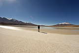 At the Edge of a Salt Lake High in the Bolivian Andes, Bolivia, South America Photographic Print by James Morgan