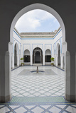 Courtyard at El Bahia Palace, Marrakech, Morocco, North Africa, Africa Photographic Print by Matthew Williams-Ellis