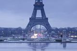 The Eiffel Tower under Rain Clouds, Paris, France, Europe Photographic Print by Julian Elliott