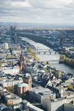 High Angle View of Frankfurt-Am-Main, Hesse, Germany, Europe Photographic Print by Mark Doherty