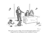 """Back when we were in college, and occasionally sleeping together, I never…"" - New Yorker Cartoon Premium Giclee Print by Zachary Kanin"