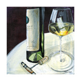 Glass of White Giclee Print by Jennifer Garant