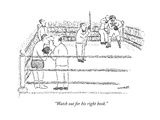 """""""Watch out for his right hook."""" - New Yorker Cartoon Premium Giclee Print by Robert Mankoff"""