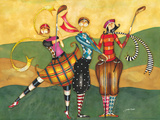 Golfing Girls Giclee Print by Jennifer Garant