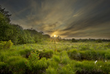 Montiagh's Moss at Dusk, County Antrim, Northern Ireland, UK, June 2011 Photographic Print by Ben Hall
