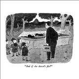 """And if she doesn't file?"" - New Yorker Cartoon Stretched Canvas Print by Danny Shanahan"