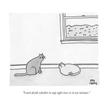 """I can't decide whether to nap right now or in ten minutes."" - New Yorker Cartoon Premium Giclee Print by Amy Hwang"