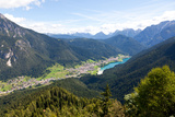 Auronzo Village and Lake in the Belluno Dolomites, Italy, Europe Photographic Print by Carlo Morucchio
