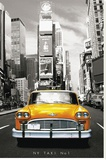 New York - Taxi No 1 - Şasili Gerilmiş Tuvale Reprodüksiyon