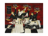 Wine Service Giclee Print by Jennifer Garant