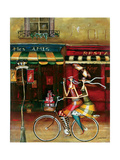 Girlfriends in Paris Giclee Print by Jennifer Garant