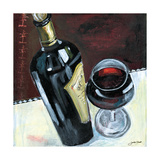 Glass of Red Giclee Print by Jennifer Garant