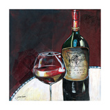 Glass of Syrah Giclee Print by Jennifer Garant
