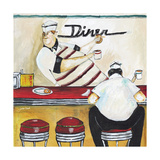 Dunking Donuts Giclee Print by Jennifer Garant