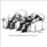 """Even my childhood dreams were of tax cuts."" - New Yorker Cartoon Stretched Canvas Print by Eldon Dedini"
