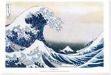Hokusai Wave Lærredstryk på blindramme