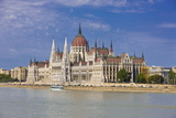 Parliament on the Banks of the River Danube, Budapest, Hungary, Europe Photographic Print by Michael Runkel
