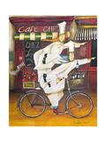 Kokke på farten, Chefs on the Go, på fransk Giclée-tryk af Jennifer Garant