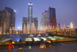Citic Plaza at Dusk, Tianhe, Guangzhou, Guangdong, China, Asia Photographic Print by Ian Trower