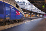 A Tgv Awaits Departure at Gare De L'Est in Paris, France, Europe Photographic Print by Julian Elliott