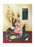 Martini Menu Giclee Print by Jennifer Garant