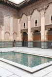 Medersa Ben Youssef Central Courtyard Photographic Print by Matthew Williams-Ellis