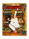 Szef kuchni w Paryżu Wydruk giclee autor Jennifer Garant
